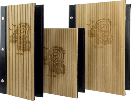 Wood and Bamboo Menu Covers