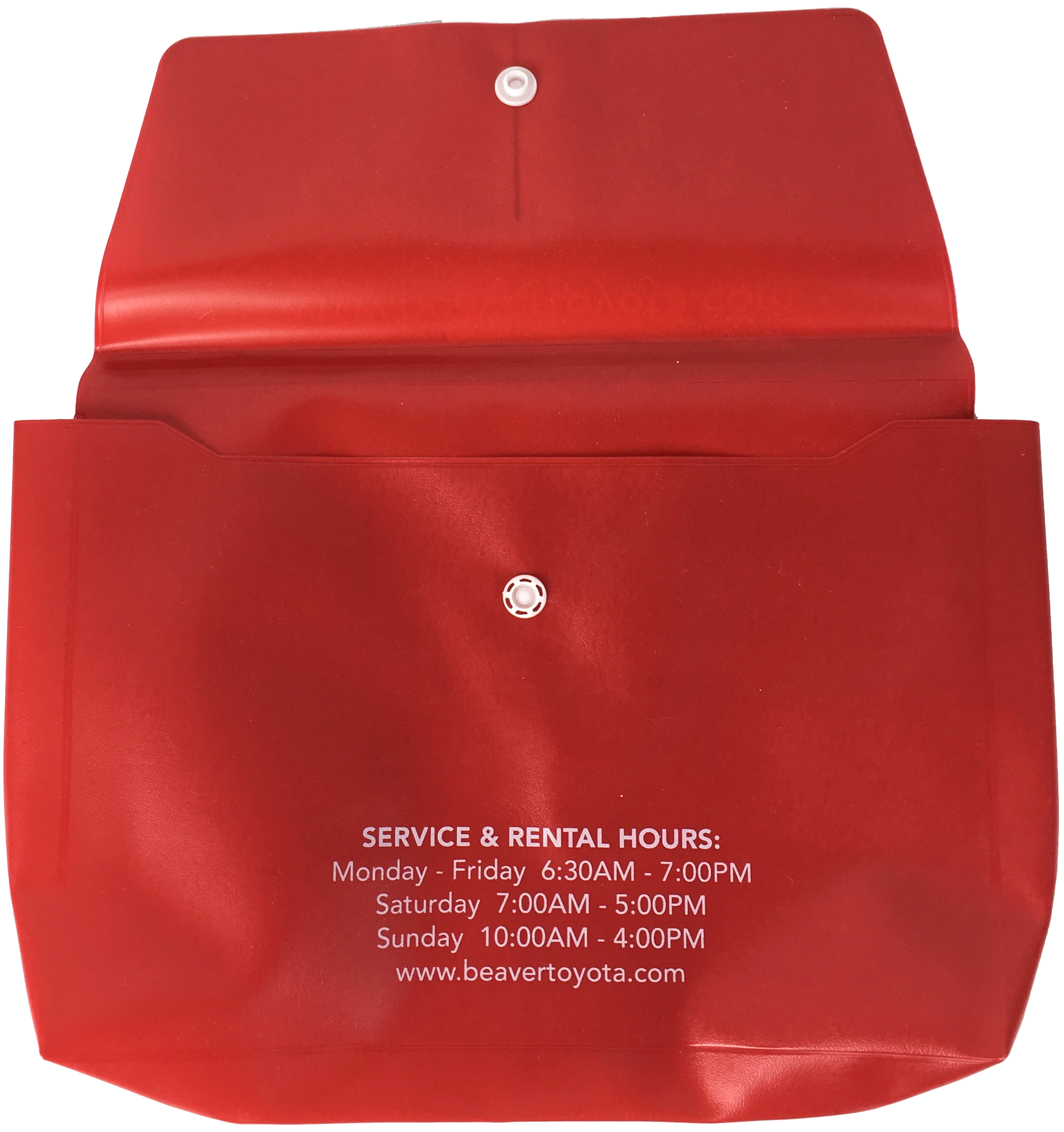 Automotive Service Envelope (Back)