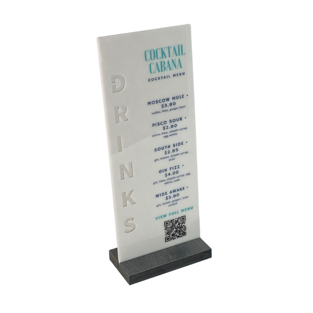 Acrylic Table Signs