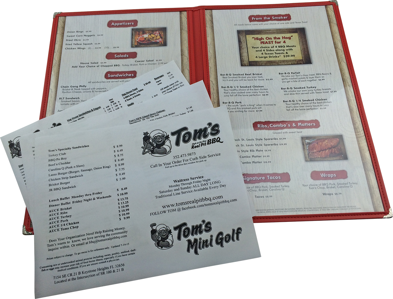Printed Menu Inserts by Dobbs Global