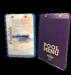 Acrylic Pool Menus