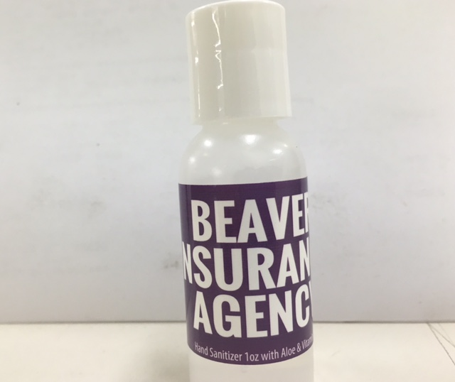 Hand Sanitizer for Beaver Insurance