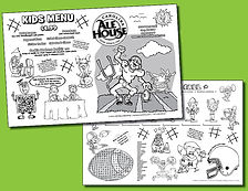 kids activity pad templates menu designs menu covers and more