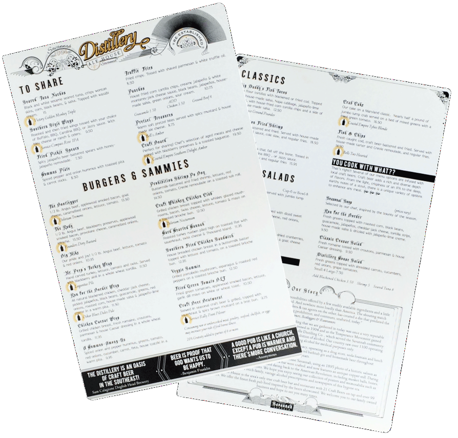 Durable Menu