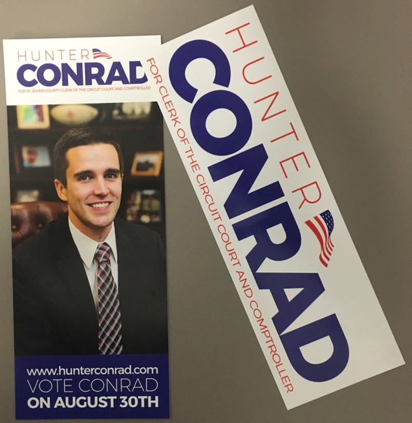 Hunter Conrad Rack Card & Sticker