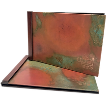 Copper Menu Covers by Menu Designs