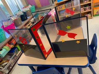 Decorated DeskShields