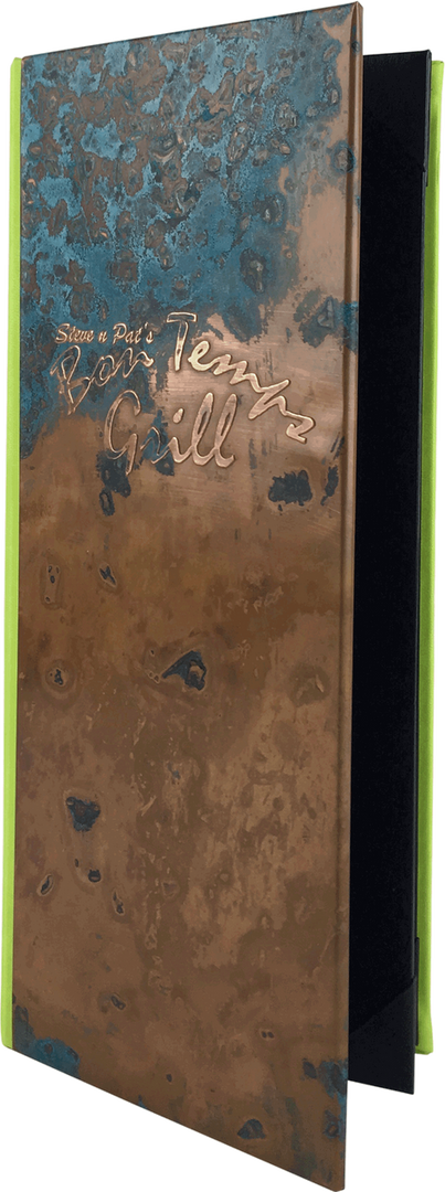 Copper Menu Covers & Copper Drink Books