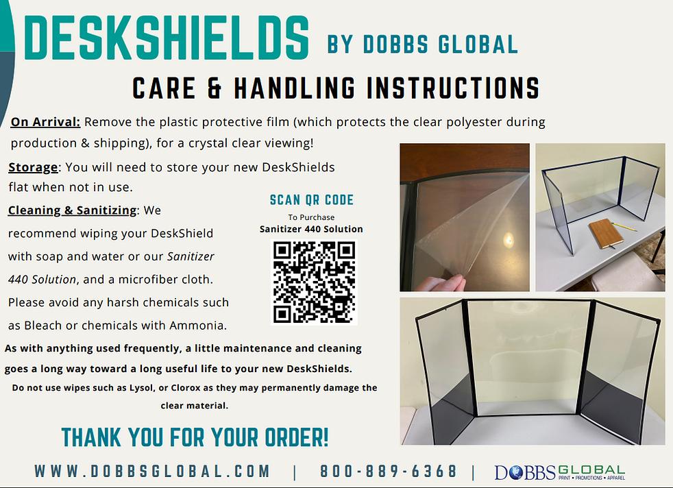 DeskShield Care Instructions