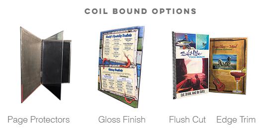 Coil Bound Menus