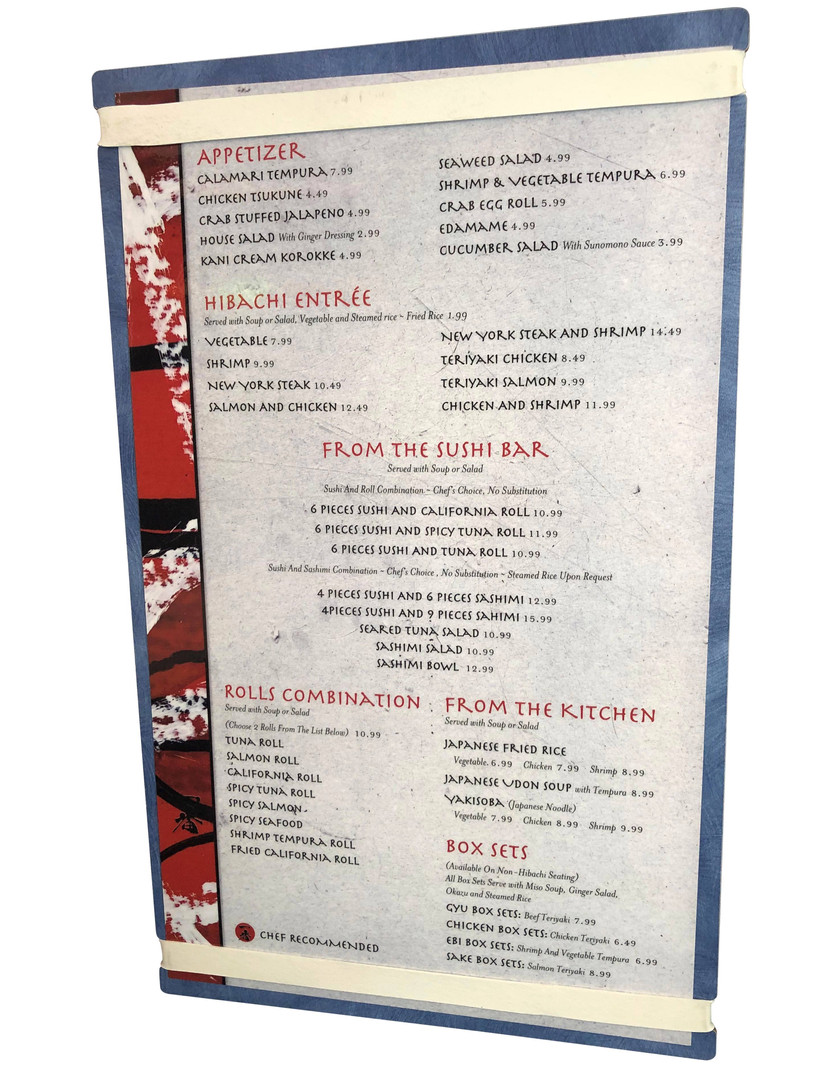Menu Boards with Printed Inserts
