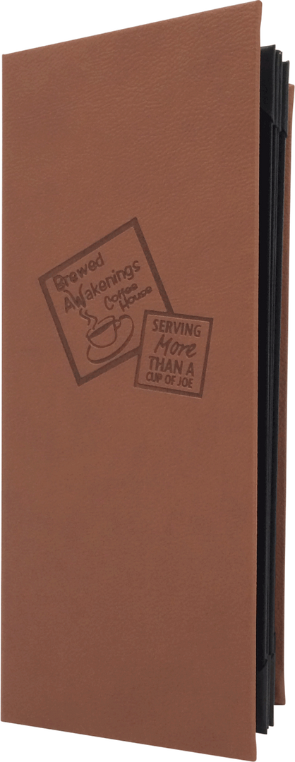 Aston Tan - Simulated Leather Menu by Menu Designs