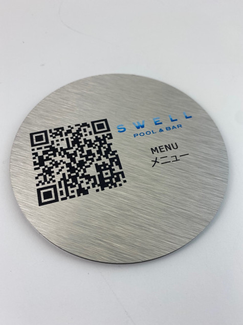 Metal QR Code Coaster