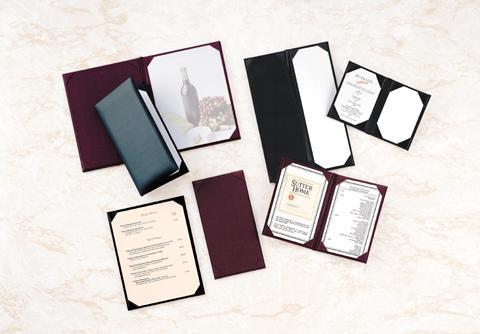 wine menu covers