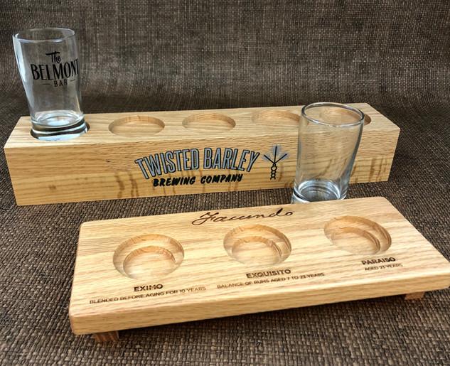 Wood Beer Flights