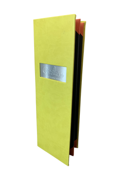 Lime Green Coag-Simulated Leather Menu by Menu Designs