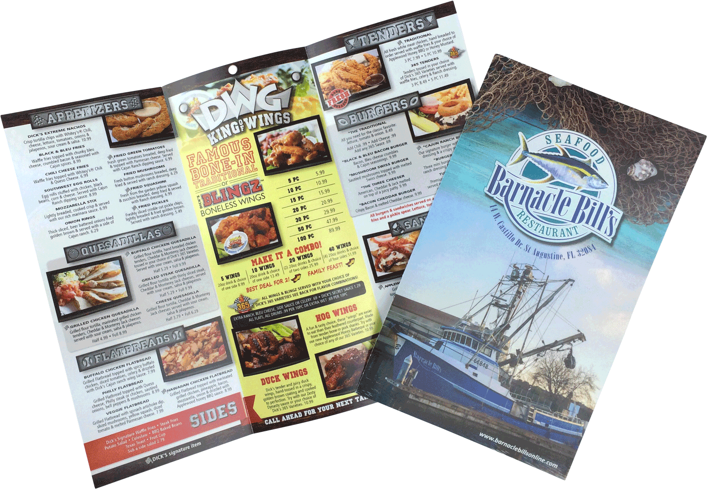 Printed To-Go Menus by Dobbs Global