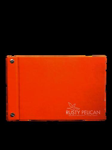 Vivella Orange- Simulated Leather Menu by Menu Designs