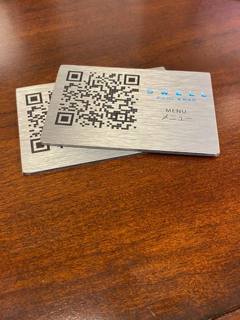 Metal QR Code Card