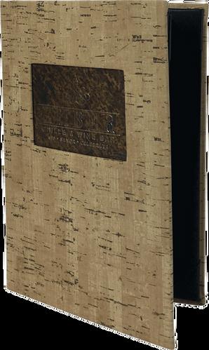 Faux Cork Menus by Menu Design