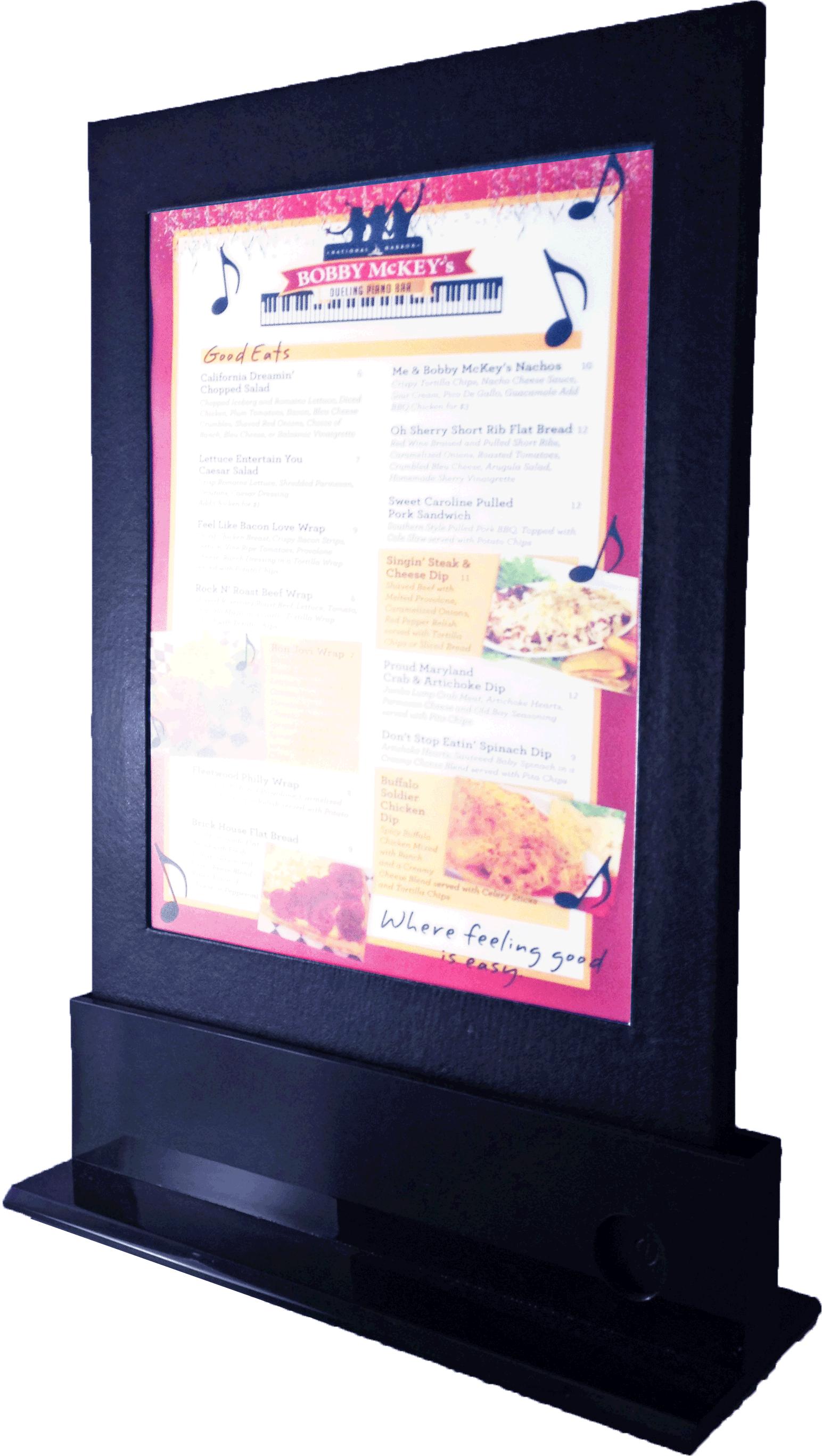 Portamenús - Menú Led Exhibidor