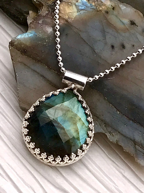 Sterling Labradorite necklace