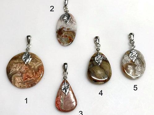 Crazy Lace Jasper reversible pendants