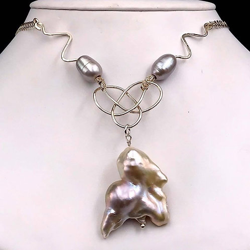 Freshwater Fireball Pearl necklace