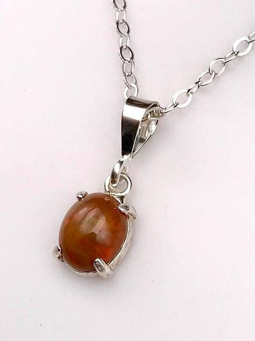 Black Ethiopian Opal necklace