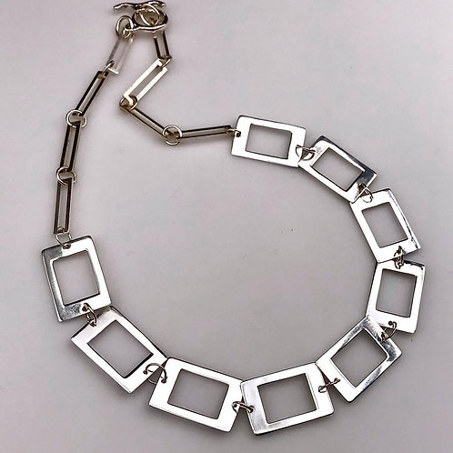 Sterling silver statement necklacd