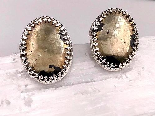 Sterling Pyrite earrings
