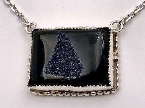 Onyx Druzy necklace