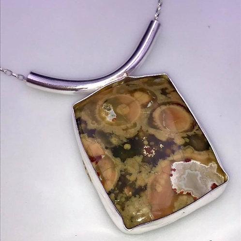 Adjustable Rhyolite necklace