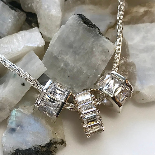 Sterling Three Ring necklace
