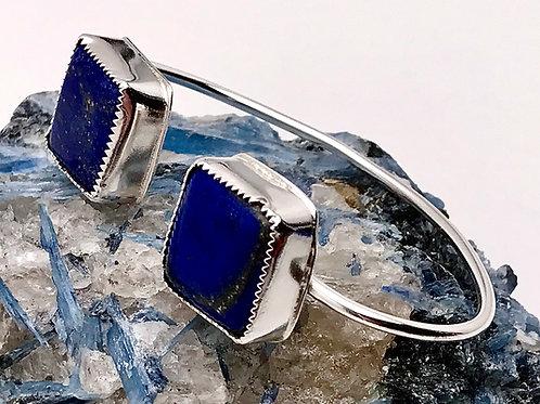 Natural Lapis cuff bracelet
