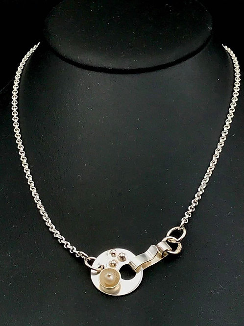 Sterling chain with a decorative Fine silver clasp