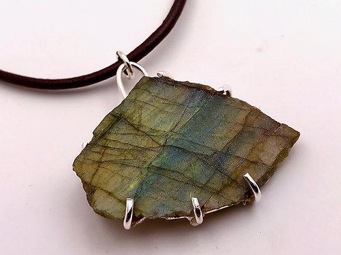 Labradorite slab necklace