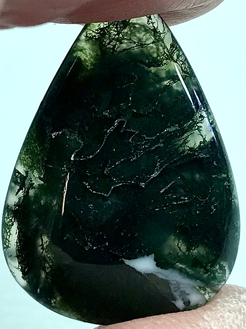 Loose Green Moss Agate #1424