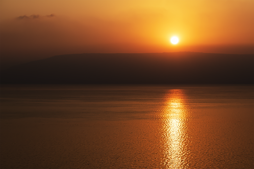 Speechless - Sunrise on the Sea of Galilee, Israel