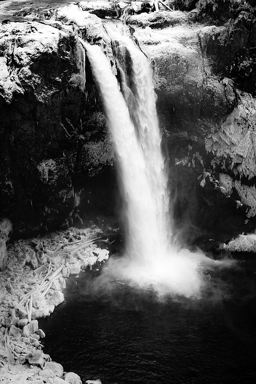 The Falls In Winter - Snoqualmie, Washington