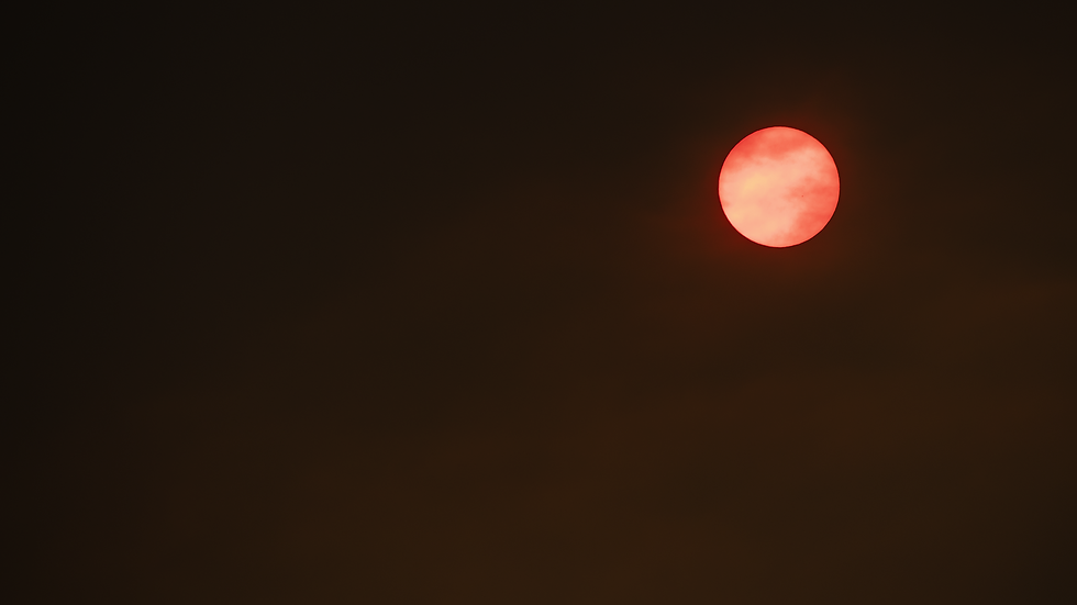 Red Skies - Seattle, Washington