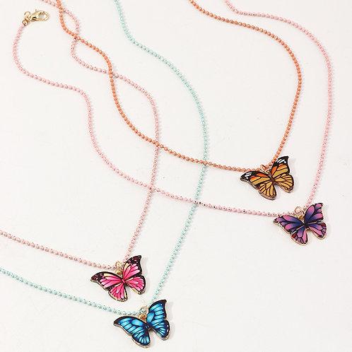 90's Butterflies Necklace