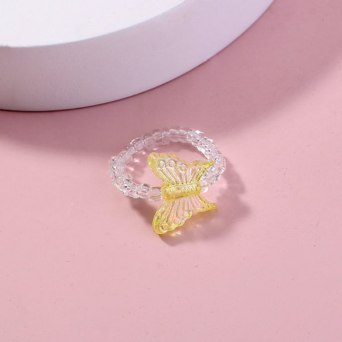 Yellow Butterfly Ring