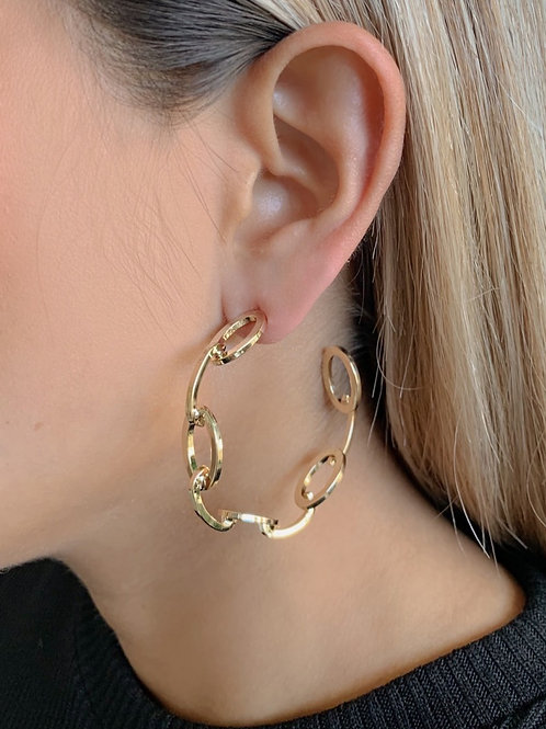 Big Chain Hoops