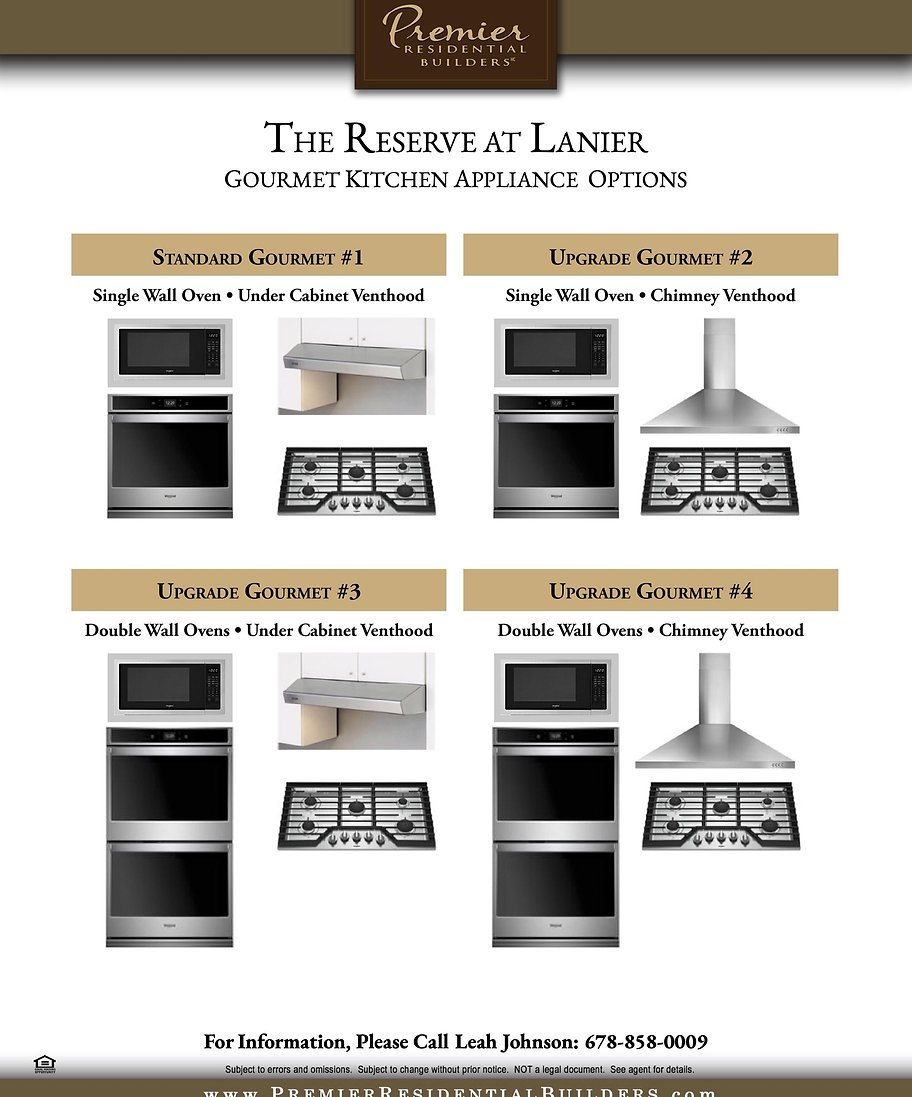Handouts - The Reserve at Lanier Kitchen
