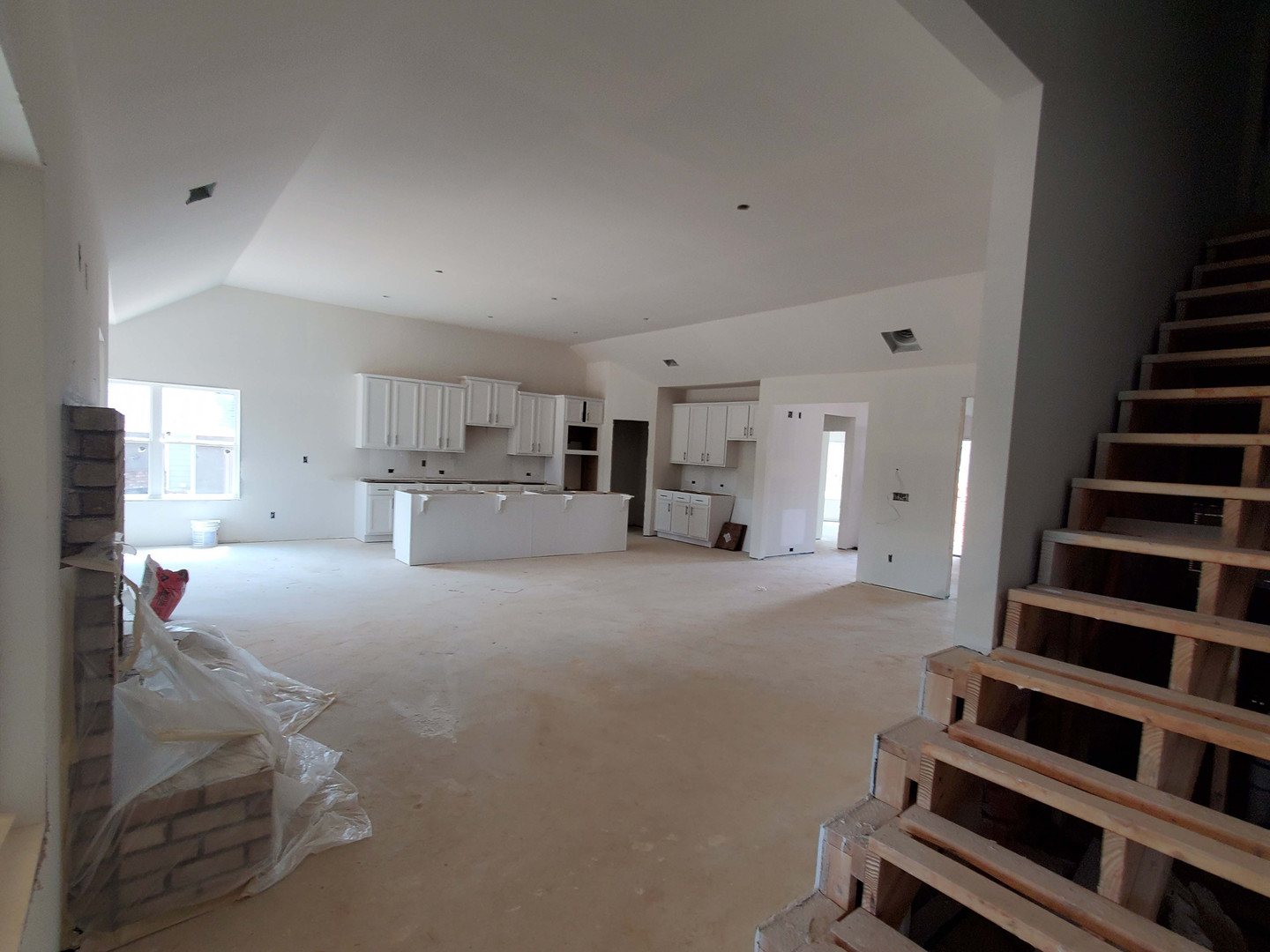 Great room and kitchen from owners bedrooms view