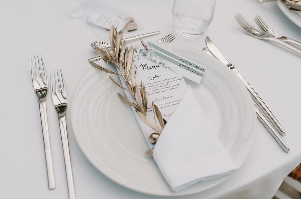 Ktima Lindos wedding tables