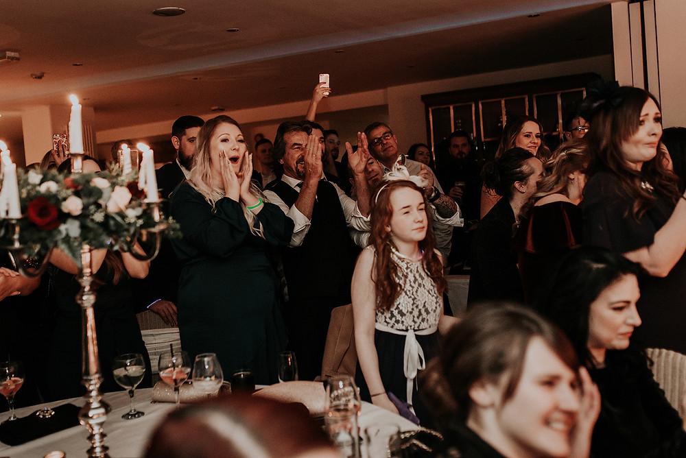 wedding day first dance mitton hall lancashire