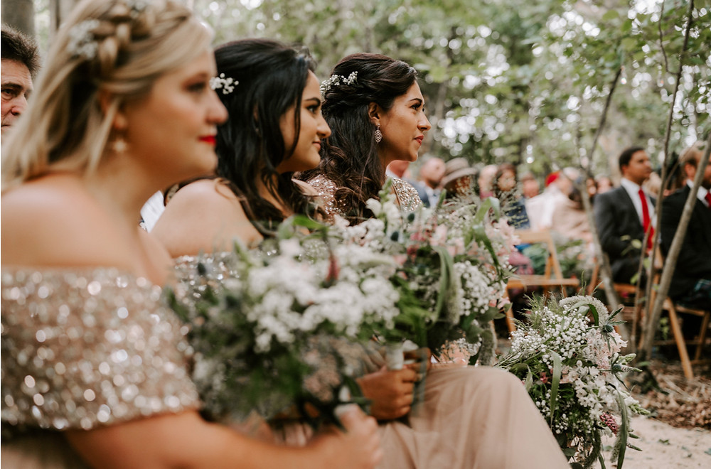 wedding ceremony in woods london