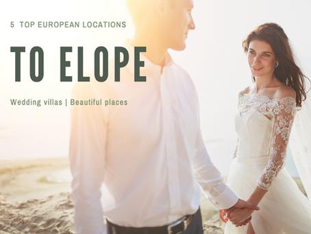 5 Beautiful Europe Elopement Locations | Destination Wedding Photographer